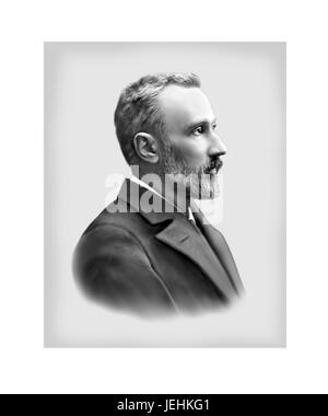 Pierre Curie, 1859 - 1906, physicien français Banque D'Images