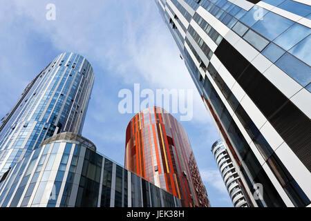 Office de Sanlitun SOHO et du quartier commerçant de Beijing. Sanlitun Soho est une nouvelle zone résidentielle et commerciale mixte avec architecture iconique.
