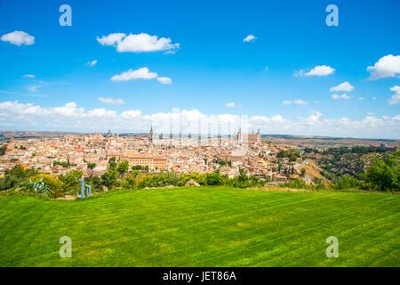 Sommaire à partir de l'hôtel. Toledo, Espagne. Banque D'Images