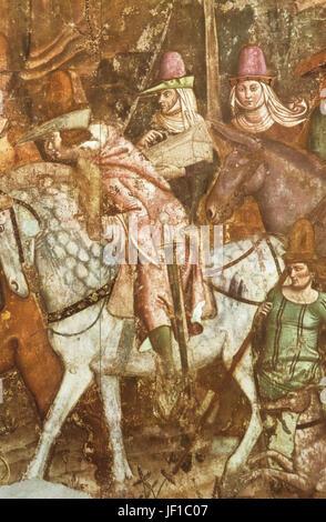 Triomphe de la mort, buonamico buffalmacco, 1336-41 Banque D'Images