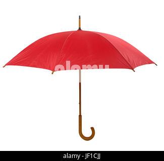 Parapluie rouge isolé Banque D'Images