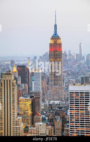 Vue aérienne de la ville de New York Banque D'Images