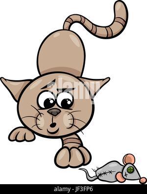 Dessin animé chaton