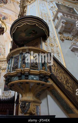 Bergame, Lombardie / ITALIE - Le 25 juin: chaire de la cathédrale St Alexandre à Bergame le 25 juin, 2017 Banque D'Images
