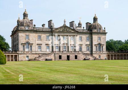Houghton Hall à West Norfolk, construit pour Robert Walpole en 1722-1735. Banque D'Images