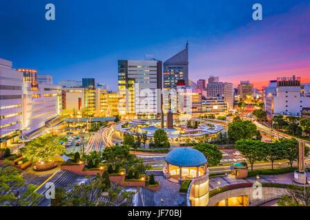 La ville de Hamamatsu, Japon skyline au crépuscule. Banque D'Images