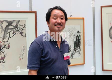 Séoul, Corée du Sud. 21 Juin, 2017. Collectionneur d'art de la Corée du Sud et le conservateur Choi Snag Kyun visites Banque D'Images