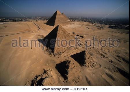 Les Pyramides de Gizeh. Banque D'Images