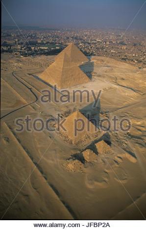 Pyramides de Gizeh. Banque D'Images