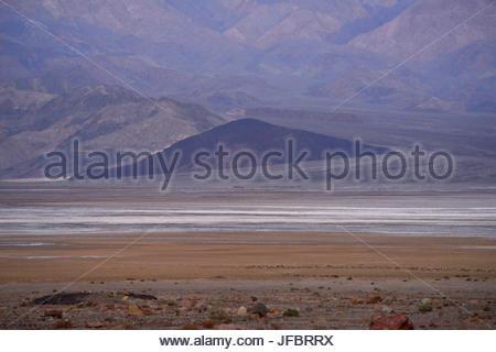Salt Flats, dans la vallée de la mort. Banque D'Images