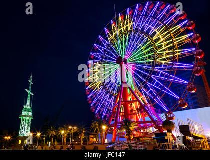 Grande roue Port de Kobe au Japon Banque D'Images
