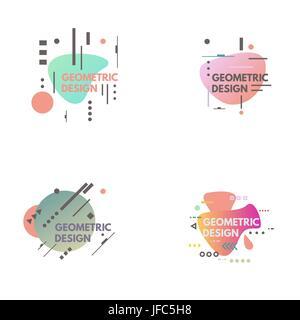 Fond abstrait géométrique Banque D'Images