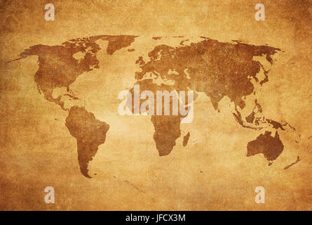 Grunge carte du monde