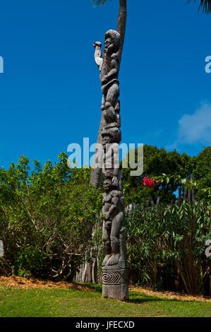 Centre culturel Tjibaou à Nouméa capitale de la Nouvelle-Calédonie, de la Mélanésie, Pacifique Sud Banque D'Images