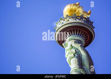 Flambeau de la statue de la liberté à New York Banque D'Images