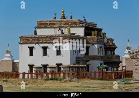 La Mongolie, l'Asie centrale, Karakorum / Qara Ressource quorum, cloître de Erdene Zuu, capitale de Gengis Khan Banque D'Images