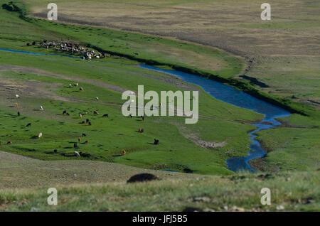 La Mongolie, l'Asie centrale, Karakorum / Qara Ressource quorum, voir Monument de Genghis Khan Banque D'Images