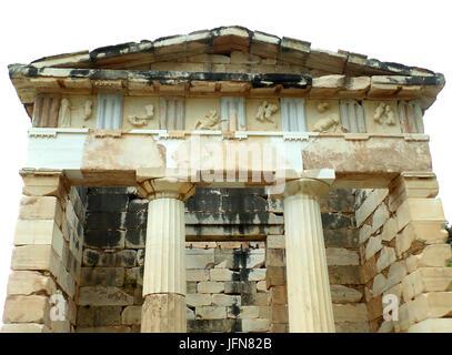 Le Conseil du Trésor des Athéniens, Site archéologique de Delphes, Site du patrimoine mondial de l'UNESCO en Grèce Banque D'Images