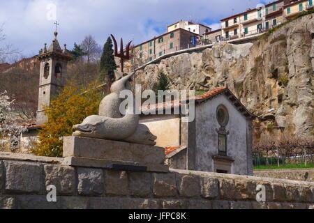 Village médiéval,Santa Fiora,Toscane Banque D'Images