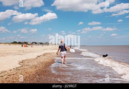 Suffolk Southwold UK Juin 2017 - plage de Southwold photographie prise par Simon Dack Banque D'Images