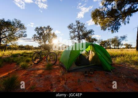 Camping en Australie Banque D'Images