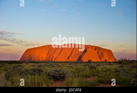 Uluru, Ayers rock, uluru-Kata Tjuta National Park, territoire du Nord, Australie, Banque D'Images