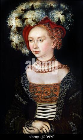 Portrait de femme 1530 - Lucas Cranach l'ancien Lucas Cranach der Ältere 1472 - 1553 peintre de la Renaissance allemande Banque D'Images
