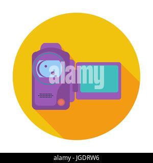 Caméra vidéo seule icône. Banque D'Images