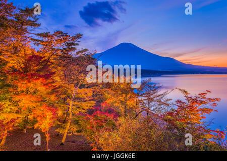 Mt. Fuji, le Japon au cours de l'automne. Banque D'Images