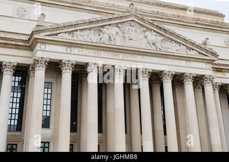 Façade de l'édifice des Archives Nationales à Washington, DC