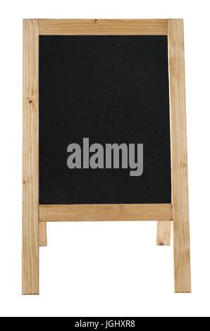 Vue avant d'un autoportant le bâti en tableau, laissée vierge pour fournir copie espace et isolé contre une backkground blanc.