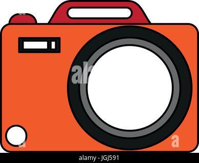 Illustration vecteur de l'appareil photo Banque D'Images