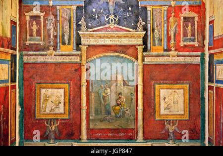Fresques rom la Villa della Farnesina dans le Museo Nazionale Romano: Palais Massimo alle Terme, Rome, Italie Banque D'Images