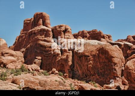 Rock formations in Arches National Park Banque D'Images