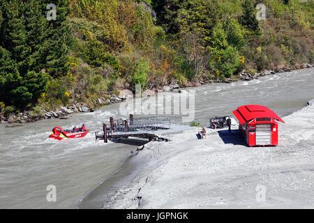 Jet Boat Shotover Banque D'Images
