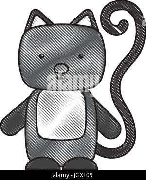 Cute cat et tendre Banque D'Images