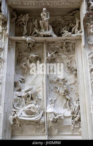 Musée d'Orsay. Auguste Rodin. Portes de l'enfer. Le plâtre. 1880-19017. Paris. La France. Banque D'Images