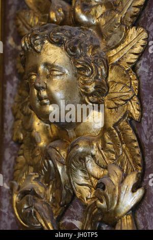 Restauration de l'église baroque de Saint Gervais. Angel. La France. Banque D'Images