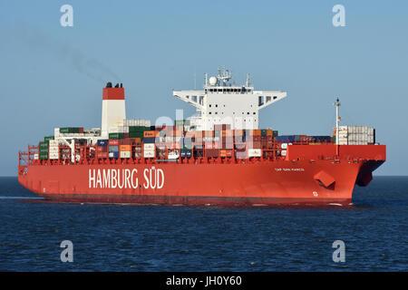 Un des plus grands Reefer-Container-Vessel Cap San Marco au monde
