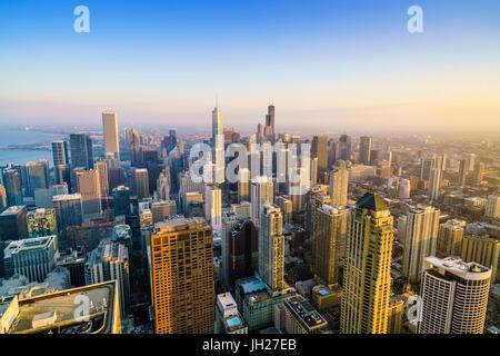 Sur les toits de la ville, Chicago, Illinois, États-Unis d'Amérique, Amérique du Nord