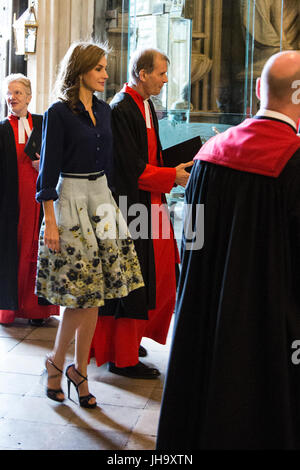 Londres, Royaume-Uni. 13 juillet 2017. Visite d'État du roi Felipe VI d'Espagne et la Reine Letizia au Royaume-Uni. Banque D'Images