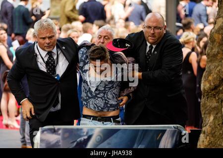 Londres, Royaume-Uni. Le 13 juillet, 2017. La sécurité lors du lancement mondial de Dunkerque le jeudi 13 juillet Banque D'Images