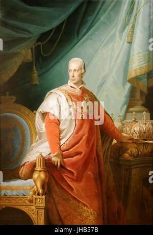 François II, Saint Empereur Romain par Johann Baptist Lampi Banque D'Images