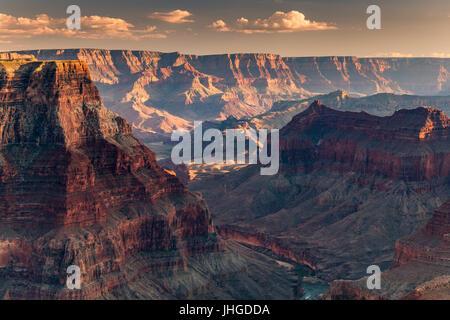 Confluent de la main et les rivières Little Colorado, le Parc National du Grand Canyon, Arizona, USA Banque D'Images