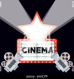 Court-métrage de cinéma avec caméra vidéo et le rabatteur ecene Banque D'Images