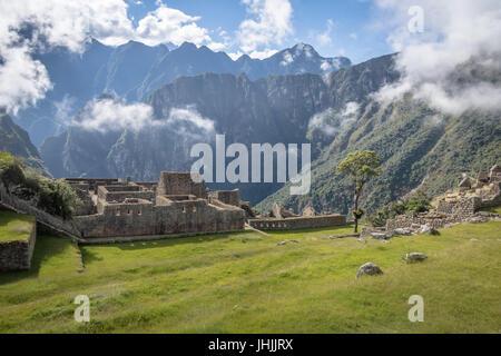 Les ruines Inca de Machu Picchu - Vallée Sacrée, Pérou Banque D'Images