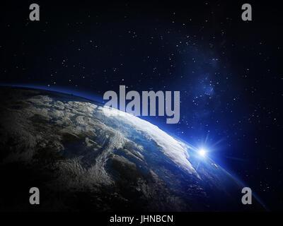 La planète Terre depuis l'espace Banque D'Images
