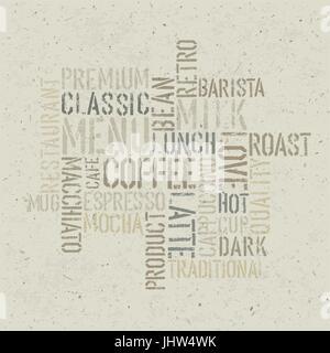 Modèle de conception de l'affiche sur le thème du café. Vector, EPS10 Banque D'Images