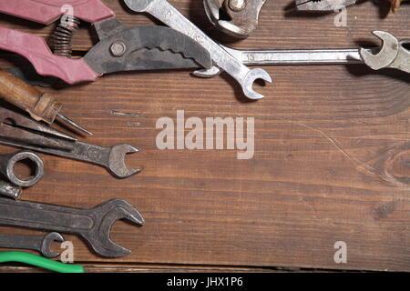 Tournevis marteaux de la construction de l'outil de réparation d'une pince Banque D'Images
