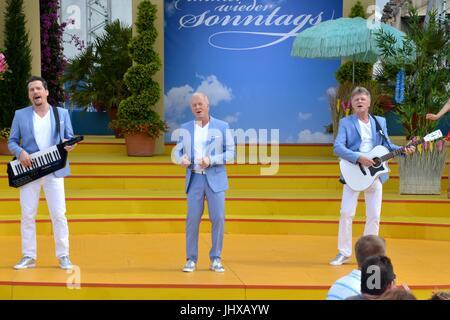 "Rust, Allemagne, 16 juillet 2017, Das Erste ARD TV Show ""immer wieder Sonntags"" comprend: Calimeros Crédit: mediensegel/Alamy Live News"